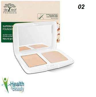 แป้งผสมรองพื้นทานาคา SPF 20 PA+++ 02 แนทเชอรอล เดอ ลีฟ ทานาคา De Leaf Thanaka Superior Natural Cover Foundation Powder SPF 20 PA+++ 02 Natural