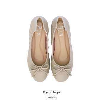 POPPY TAUPE (กากี) รองเท้าคัทชู รองเท้าคัชชู รองเท้าไซด์ใหญ่ รองเท้าแฟชั่น Zaab รองเท้า ผู้หญิง ส้นเตี้ย ส้นแบน  รองเท้าหน้ากว้าง เท้าใหญ่ นิ่ม หัวมน ทำงาน ไซด์ 34-44 สำหรับคน หน้าเท้ากว้าง พื้นยาง ไม่ลื่น ไม่กัด ทนทาน สินค้าพร้อมส่ง-