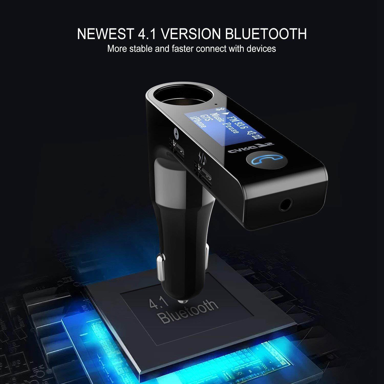 ส่วนลดถูกสุด ๆ เครื่องเล่นเพลงแบบพกพา CAR ของแท้100% CAR G7S อุปกรณ์รับสัญญาณบลูทูธในรถยนต์ Bluetooth FM Transmitter MP3 Music Player SD USB Charger for Smart Phone & Tablet V3.0 OUTPUT 5V/3.1A พร้อมบอกไฟแบตเตอรี่รถในตัว เพิ่มช่องจุดบุหรี่ ลดราคาเกินครึ่ง