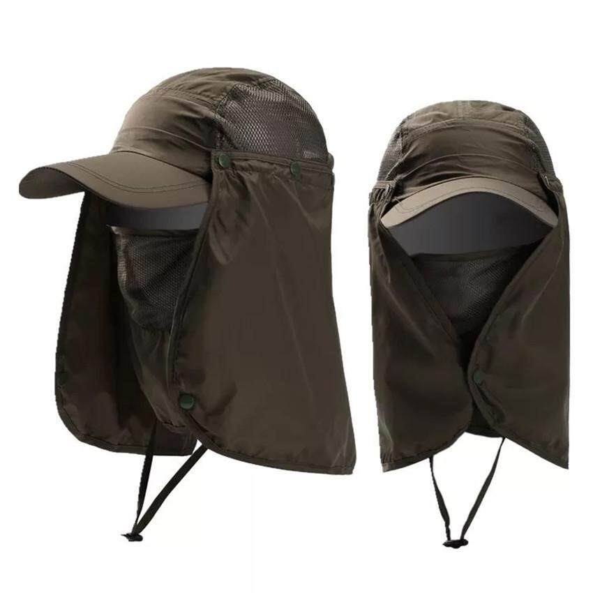CMC Summer Sun Hat,Unisex 360°Outdoor Sun Protection Fishing Hat With Removable Neck&Face Flap Cover,UPF 50+  รุ่น J-1