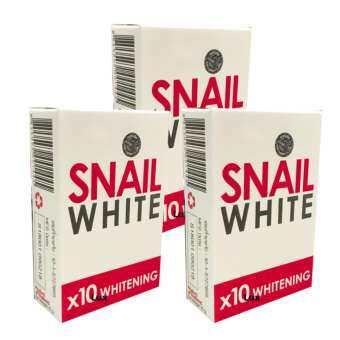 รีวิว Snail White Soap x10 Whitening สบู่หอยทาก ฟอกผิว 70g. (แพ็ค 3 ก้อน)