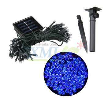 XML-Solar ไฟกระพริบ โซล่าเซลล์ ไฟคริสมาส 100 LED (เเสง : สีฟ้า)