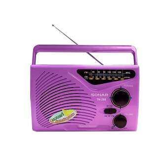 Sonar เครื่องเล่น วิทยุ เครื่องเล่นเพลง วิทยุคลาสสิค วิทยุคลาสิค วิทยุพกพา วิทยุกลางแจ้ง วิทยุไม้ ทรานซิสเตอร์ แนวใหม่ รุ่น TN-288 - สีชมพู