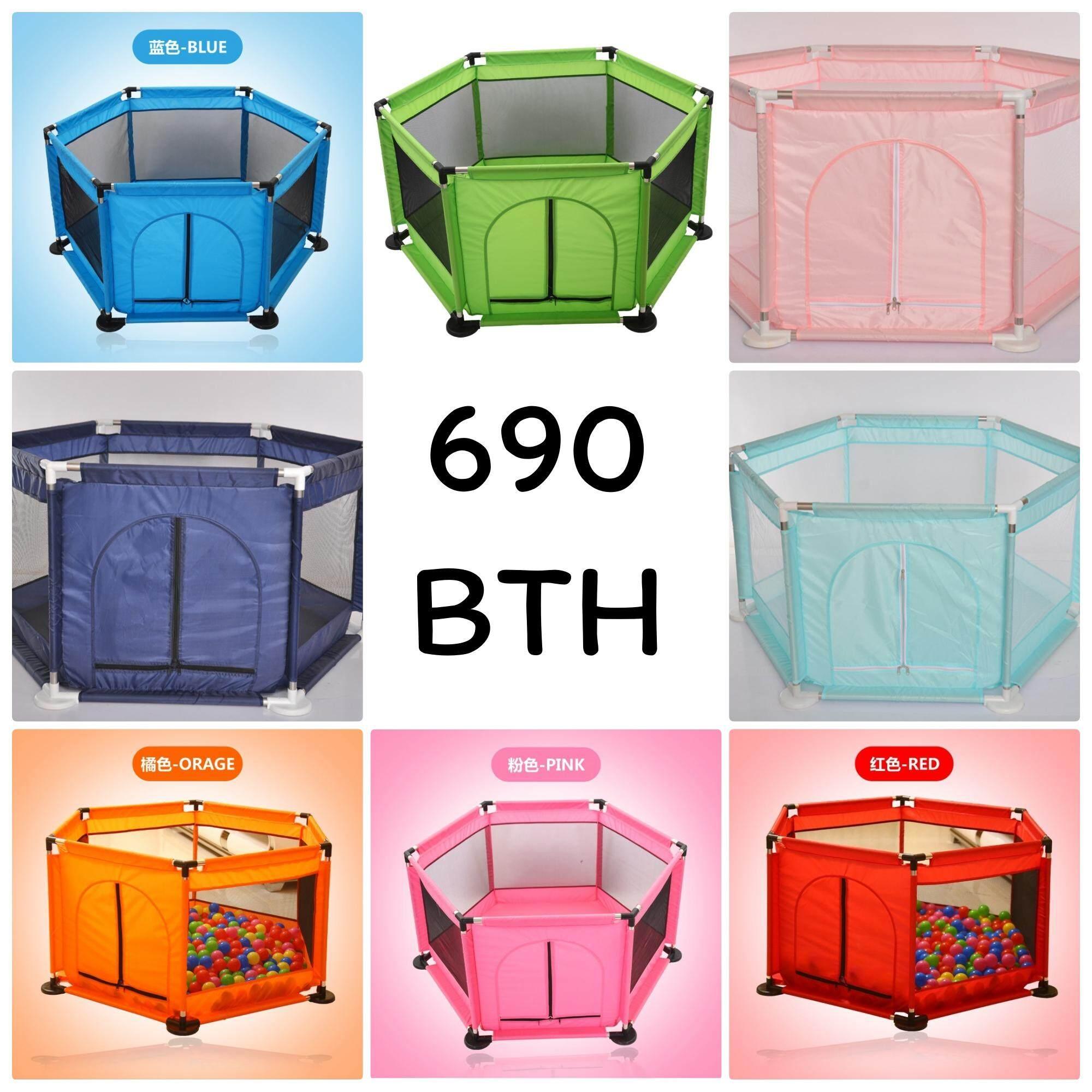 โปรโมชั่น ถูกที่สุดเพียง 690 บาท คอกกั้นเด็ก บ่อบอล PLAYPEN 6 เหลี่ยม 6 ด้าน (HEXAGON BABY'S PLAYPEN) รุ่นประหยัด