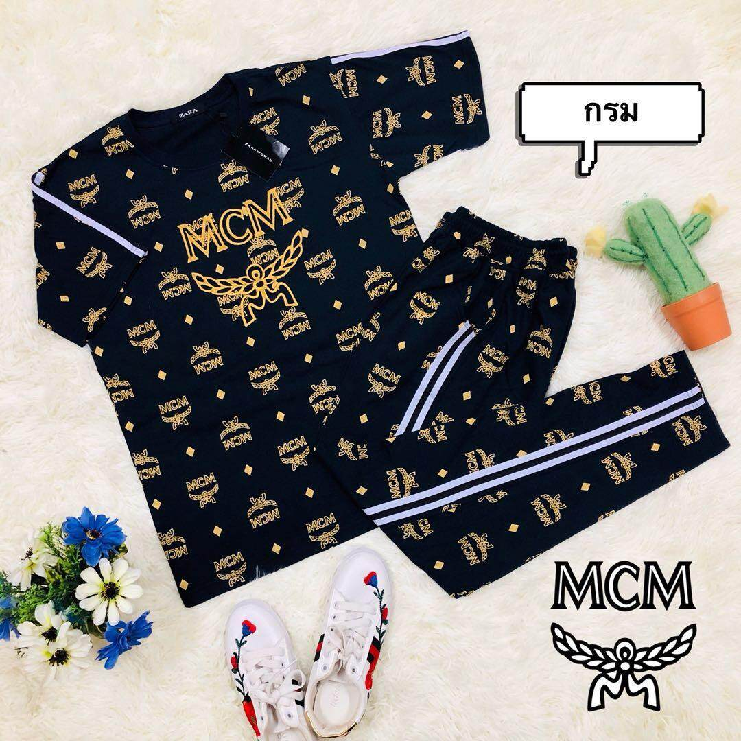 MCM Women's Fashion Casual Comfortable Sportswear One Set เสื้อยืด