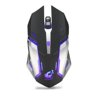 Free Wolf X7 Wireless Mouse Charging Silent Illuminated Game Mouse Shift