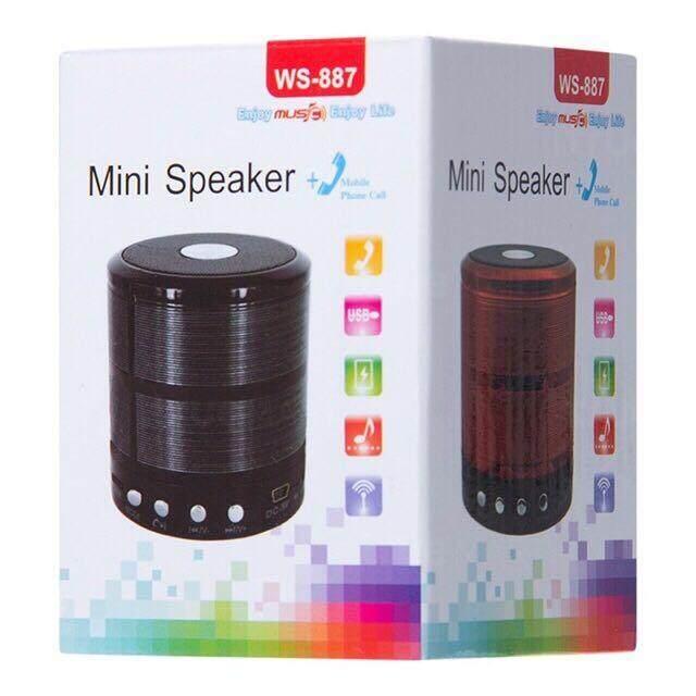 ลดสมมนาคุณลูกค้า ลำโพงแบบพกพา Unbranded/Generic WS-887 Bluetooth Speaker ลำโพงบลูทูธไร้สาย พกง่าย กะทัดรัด เสียงดี **สินค้ามีประกัน** ขายถูกที่สุดแล้ว