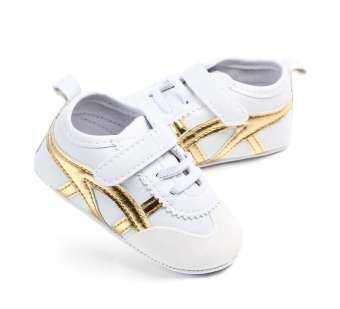 Baby รองเท้าเด็กวัยหัดเดิน (สีขาว/ทอง) รุ่น F133-