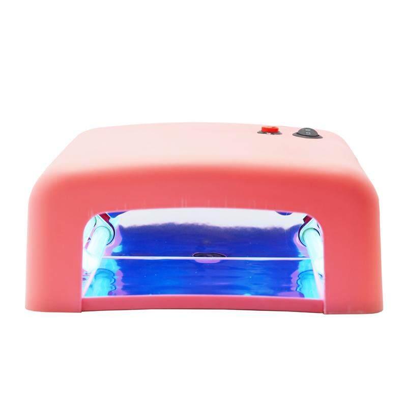 LAMP เครื่องอบเล็บสีชมพู อบเล็บ อบเจล อบสี อบต่อเล็บ ขนาดใหญ่ ระบบUV ครบครัน [ชมพู]