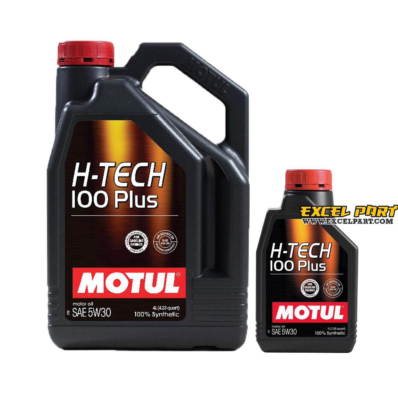 ราคา MOTUL SAE 5W-30 H-TECH 100 PLUS น้ำมันเครื่อง ขนาด 4+1 ลิตร
