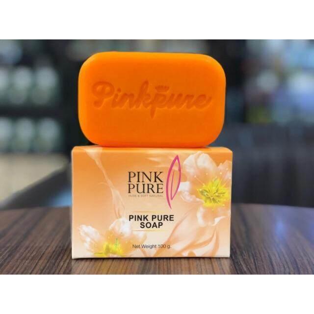 สบู่พิงค์เพียว ลดฝ้า หน้าใส Pink pure soap 100 กรัม (1 ก้อน )