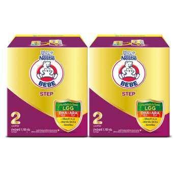 BEBE เบบี นมผงสำหรับเด็ก ช่วงวัยที่ 2 สเตป 1100 กรัม (แพ็ค 2 กล่อง)-