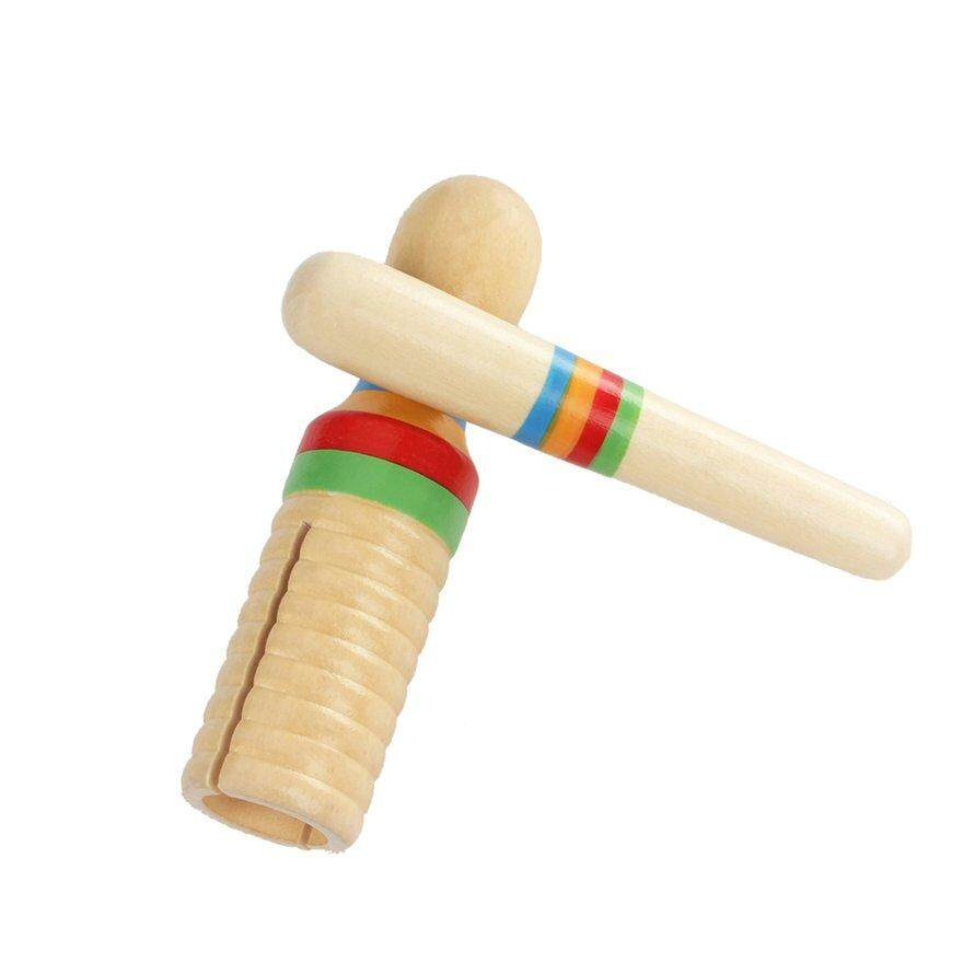 Obbb Instrumen Orff Pengerjaan Indah Warna-warni Kayu Crow Sounder Kayu Guiro Anak-anak Mainan Musik Anak-anak