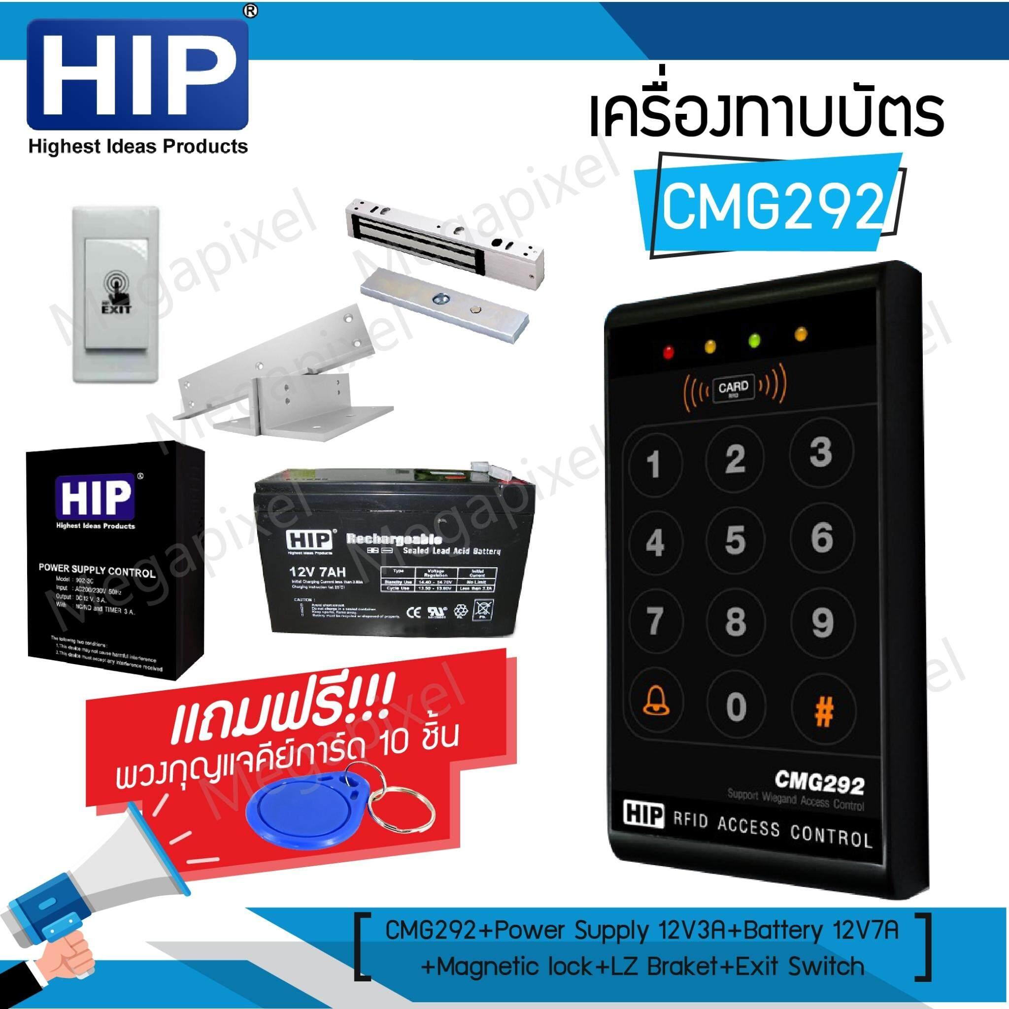 HIP CMG292 เครื่องทาบบัตร Access Control สำหรับควบคุมการเข้าออกประตู