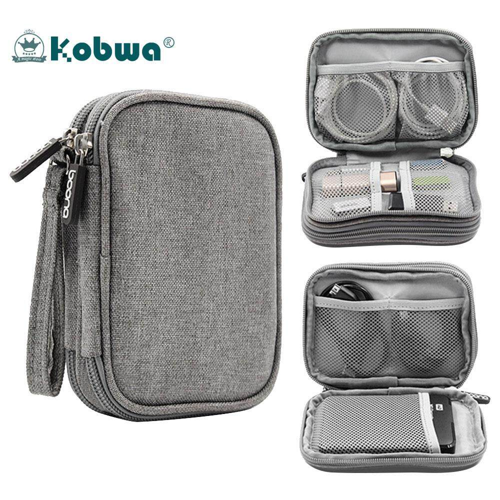 Kobwa Electronics Accessories Storage Bag Portable Universal Data Cables Organizer / Digital Device Holder - intl,16*12*3cm