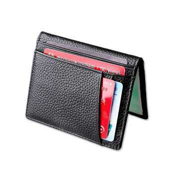 Kobwa Front Pocket Wallets for Men,Travel Wallet Passport Holder with Genuine Leather,ID Window Blocking,License Card Holder for Large Storage-