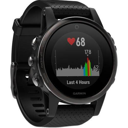 Garmin Fenix 5S Sapphire Edition Multi-Sport Training GPS Watch - [Black, Black Band]