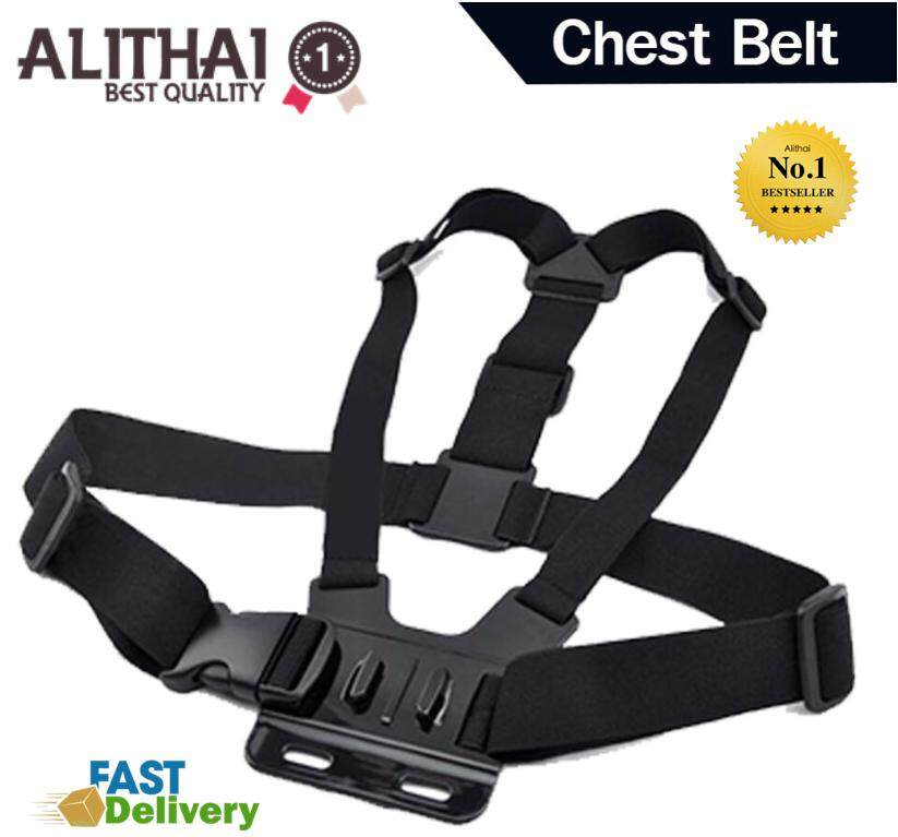 Alithai Gopro accessories Adjustable Elastic Body Harness Chest Strap Mount Band Belt for Go Pro Hero 4 3+ SJCAM action Camera