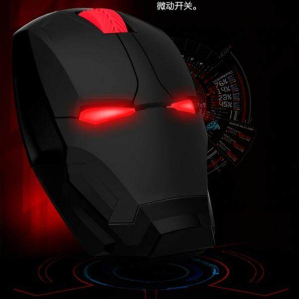 【Hot】Iron Man Mouse Wireless Mouse Gaming Mouse Gamer Computer Mice Button Silent Click 800/1200/1600/2400DPI Adjustable computer Malaysia