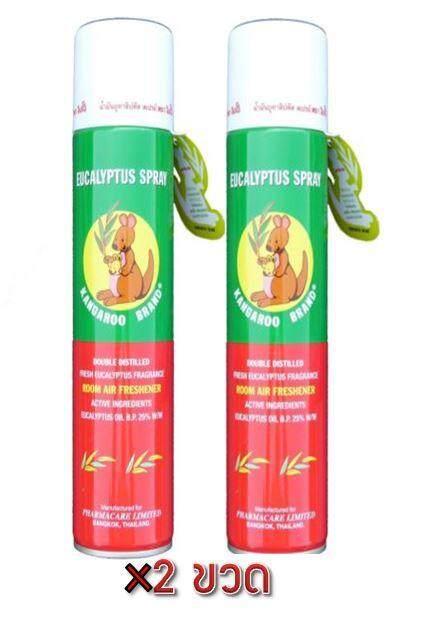 จิงโจ้ ยูคาลิปตัส สเปรย์ 300 ml. ช่วยให้จมูกหายใจโล่ง Kangaroo Eucalyptus Spray 2กระป๋อง