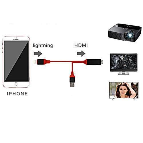HDMI Cable HDTV AV Adapter for iPhone 5 5S 6 7 7S iPad Mini 2//3 iPad Air 2