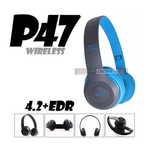 สั่งซื้อ  ali หูฟังบลูทูธ หูฟัง Bluetooth หูฟังไร้สาย Headphone Stereo รุ่น P47 (สีเขียว) ... ลดราคา2019