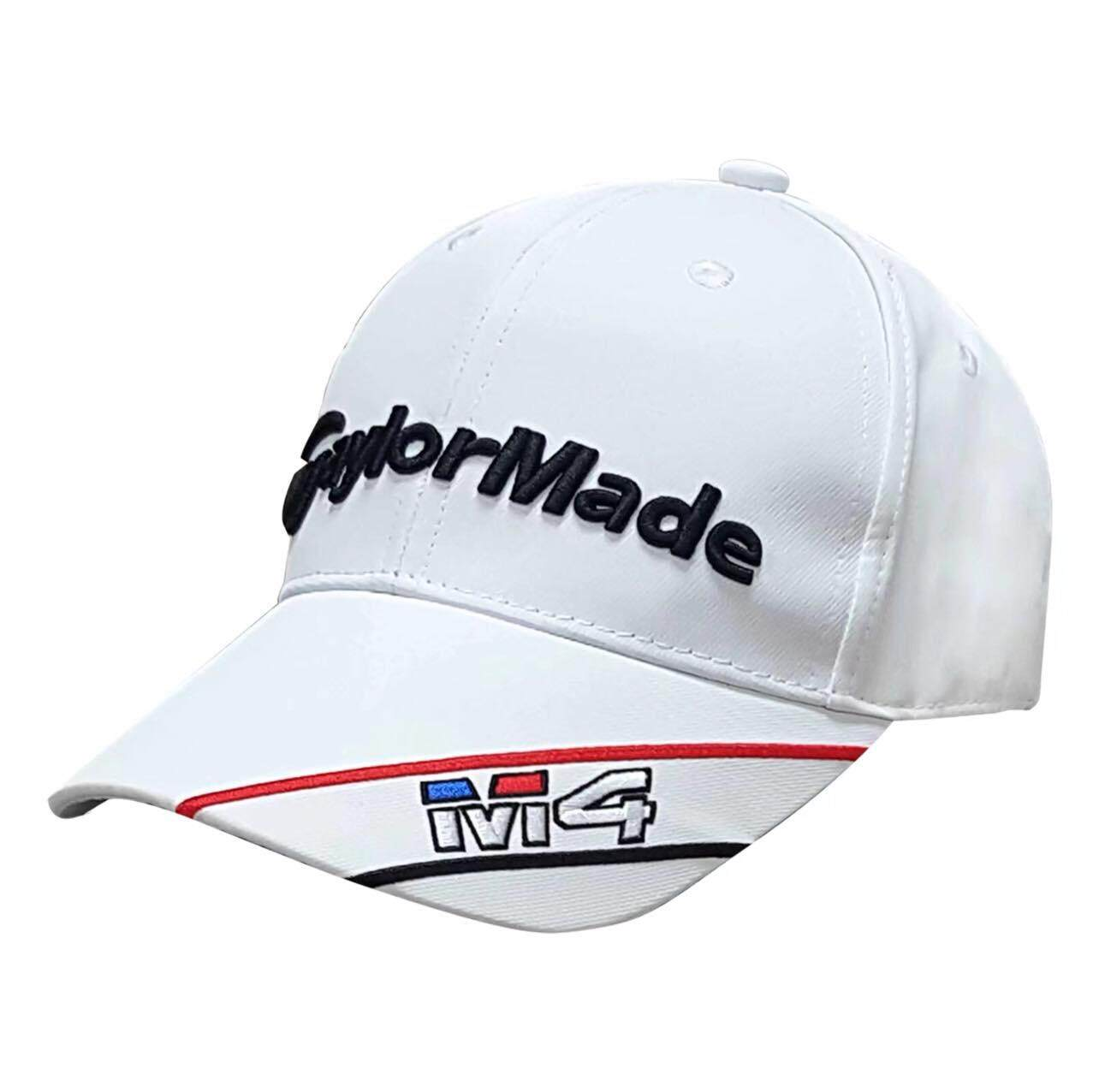 QYGOLF : GOLF CAP Clip with Magnetic Ball Marker ( TAYLORMADE-M4 ) หมวกกอล์ฟ แถมมาร์คเกอร์ในตัว หมวก สี : White Size Int :  One size