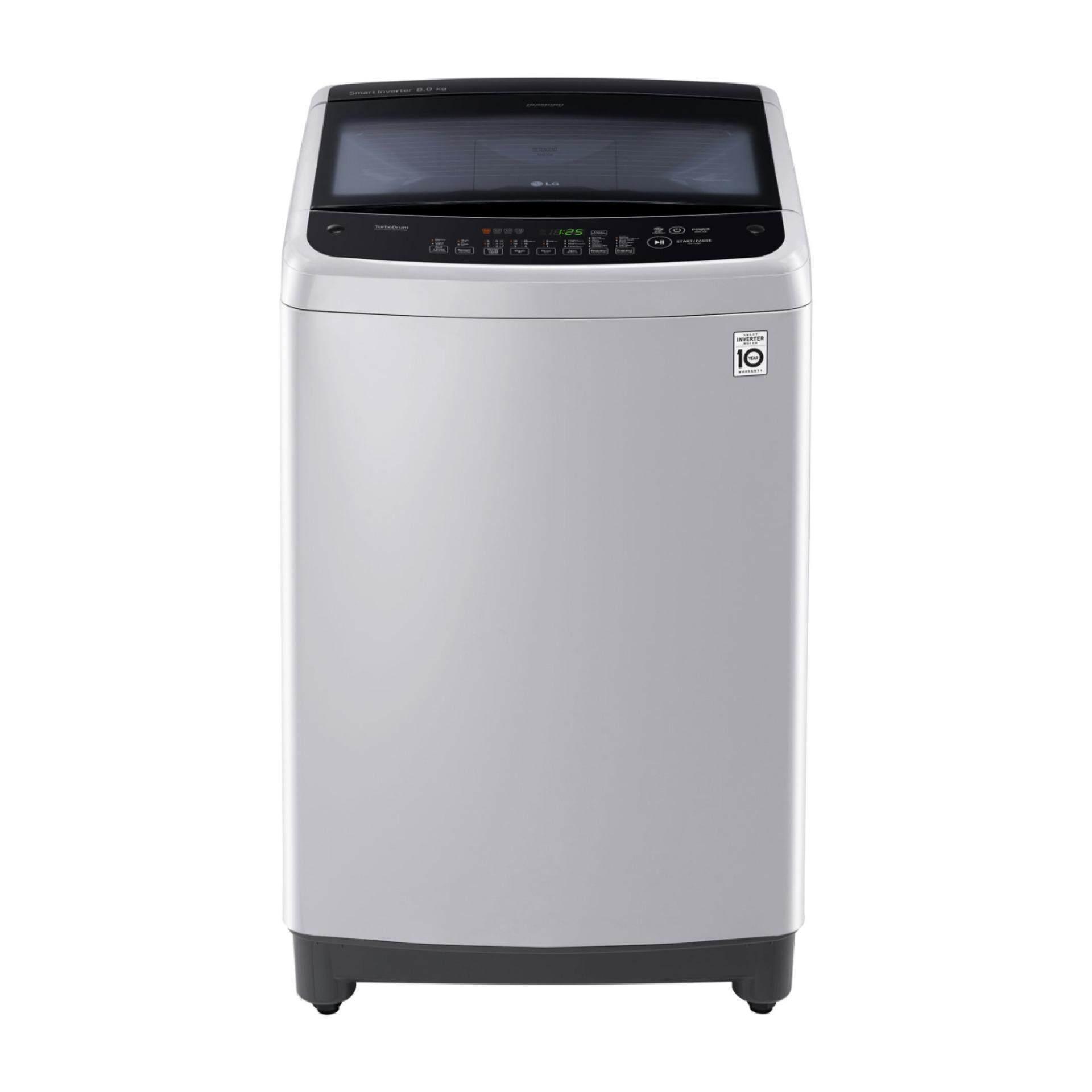 รีวิว Pantip เครื่องซักผ้า แอลจี ลด -60% เครื่องซักผ้าฝาบน LG Smart Inverter T2514VS2M ,14KG. (สี Grey) ยอดขายอันดับ 1