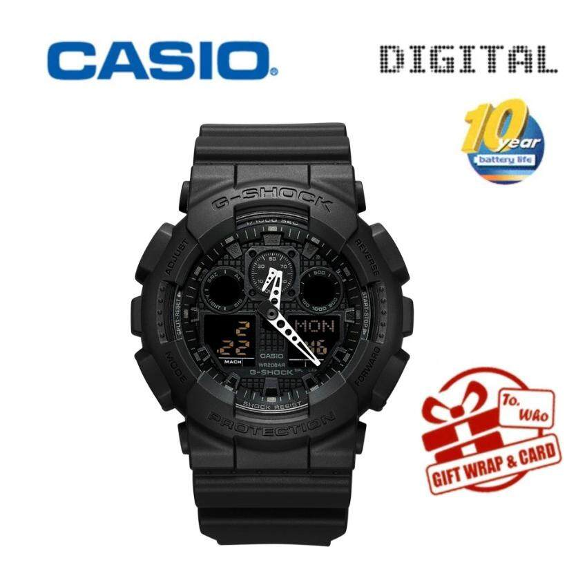 Casio Sports Watches Waterproof Shockproof Watch Black / Gold Men's Watch GA-100CF