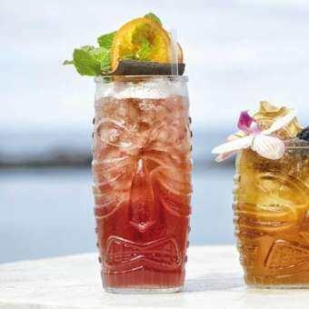 【 4 ใบ 】Libbey แก้วค็อกเทล 590 ml แก้วน้ำ แก้ว Vintage แก้วน้ำผลไม้ แก้วทรงสูง  แก้วน้ำวินเทจ แก้วแตกยาก Tiki Cooler 20 oz.