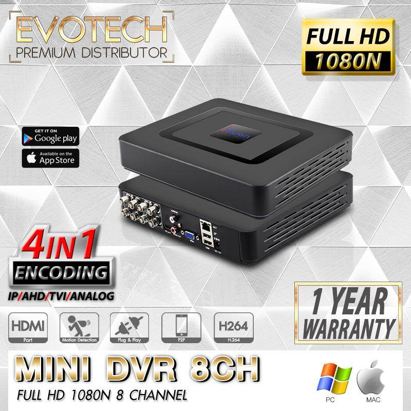 Mini DVR 8CH เครื่องบันทึกภาพ 8 ช่อง FULL HD 1080N , 720P / P2P / 4 IN 1 / Mode TVI , AHD , IP , Digital Video Recorder / Dahua/ Hikvision/ Watashi/ Fujiko/ Belko/ Bosch/ AVTech/ Panasonic/ Amorn/ Longse