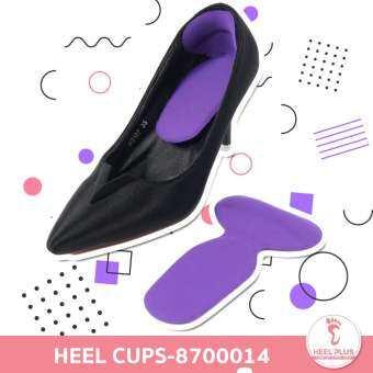 Heelplus 1คู่ แผ่นเจลรองส้นเท้ารูปตัวที แผ่นกันรองเท้ากัด รองเท้าหลวม รูปตัว T No.873011