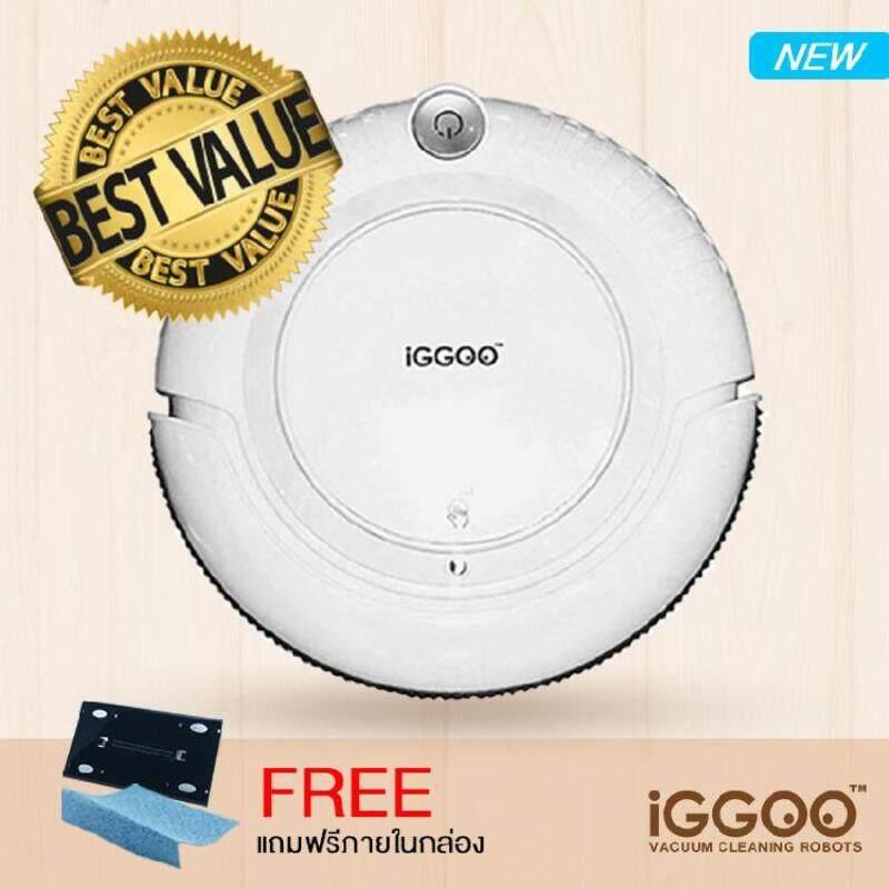 PREMIUM PRODUCT รายละเอียดสินค้า iGGOO vacuum cleaning robot หุ่นยนต์ดูดฝุ่น รุ่น One ( White)