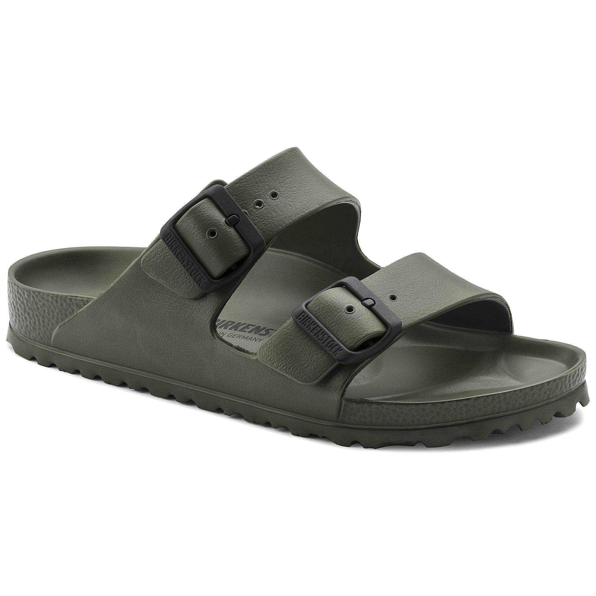 Birkenstocks Arizona EVA Khaki Men Beach Non-slip Shoes Summer Shoes Slow-motion Travel Shoes