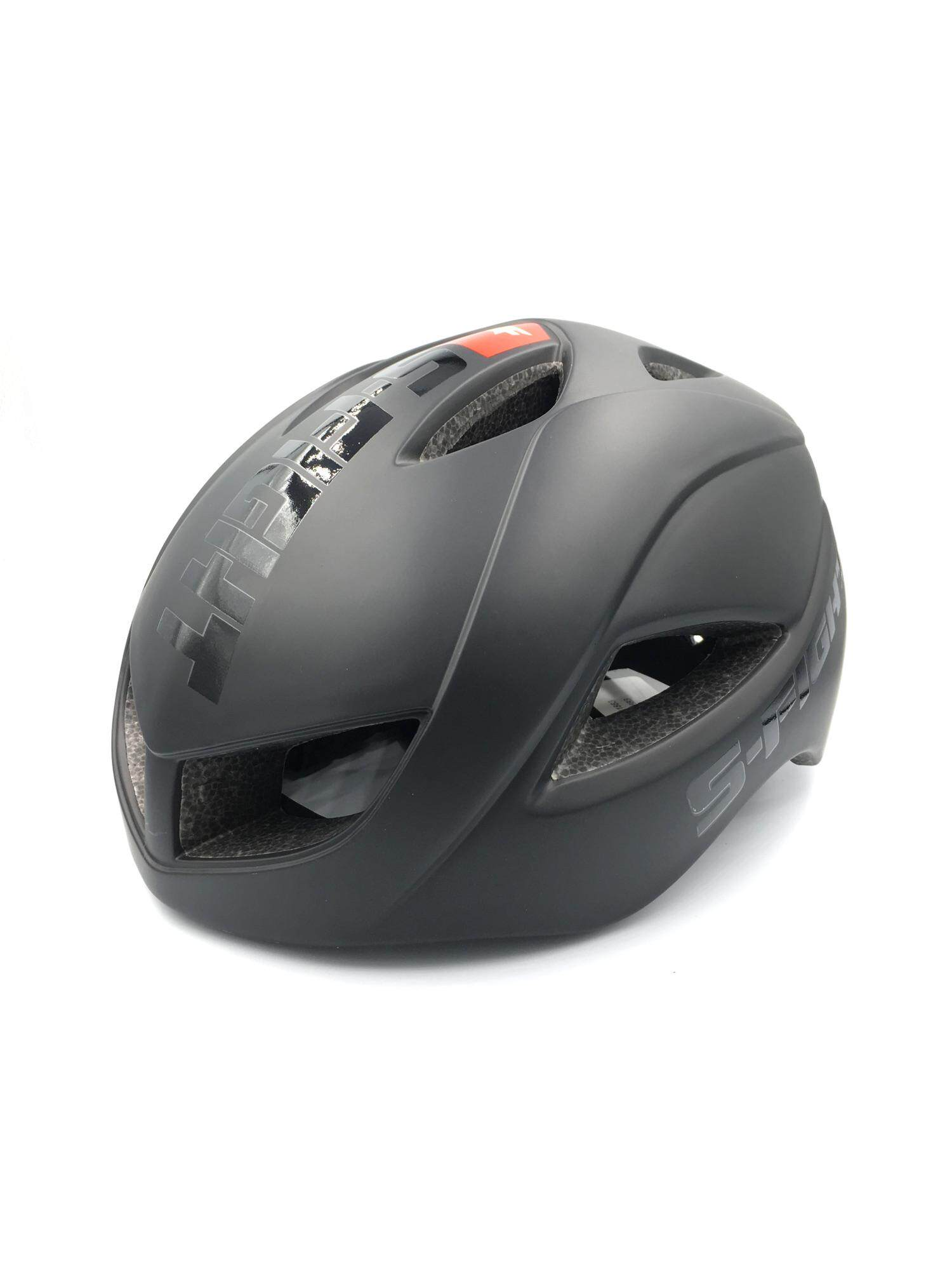 หมวกจักรยาน S-FIGHT AERO Road Bicycle Helmet (EN1078 GB24429-2009 Safety Standard Certified) code:GH-11-blk