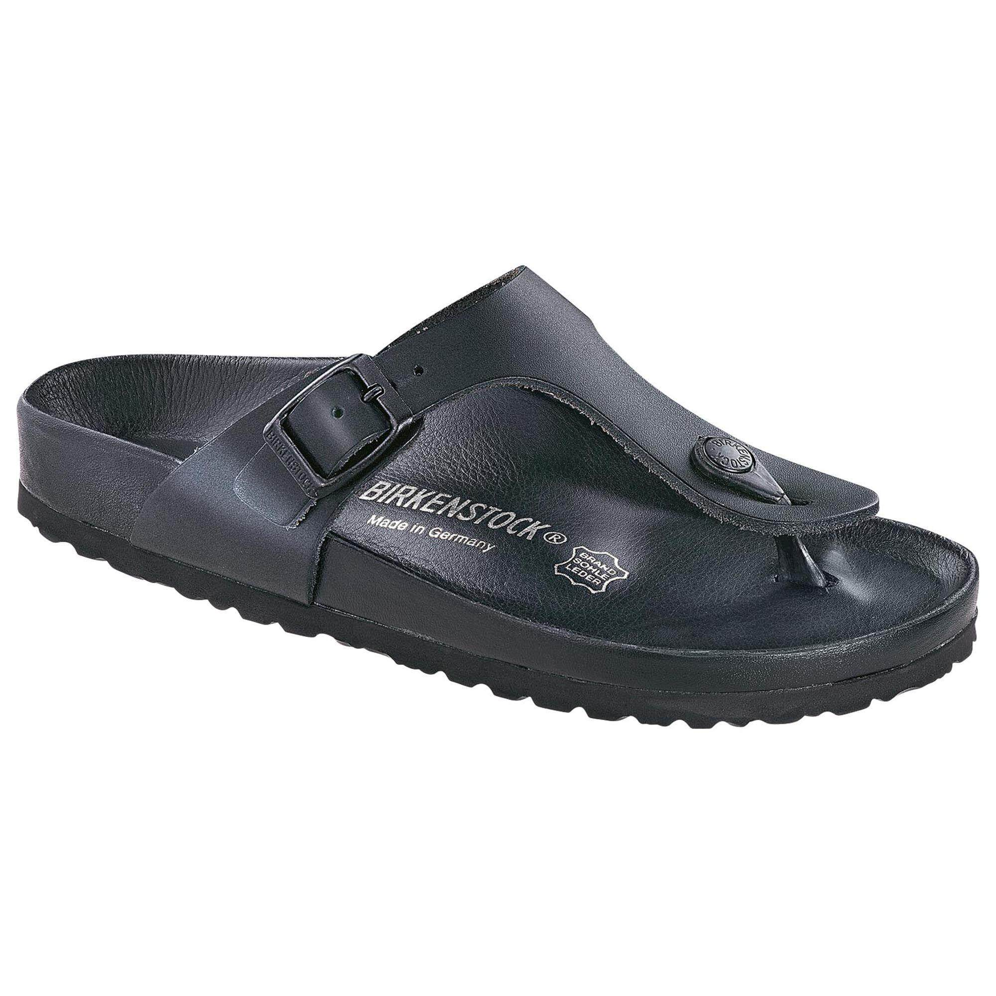 037f4c8a8f90 Birkenstocks Women Sandals Women Thong Gizeh Natural Leather Black