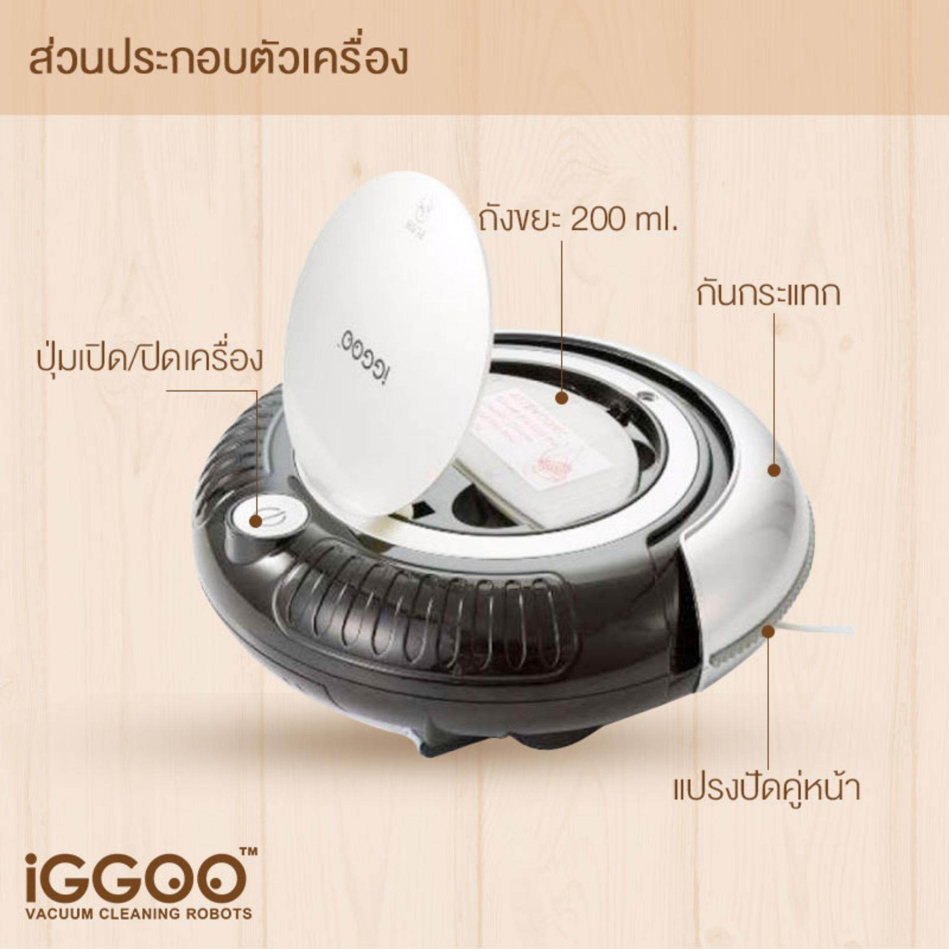 IGGOO Vacuum Cleaning Robot One Black