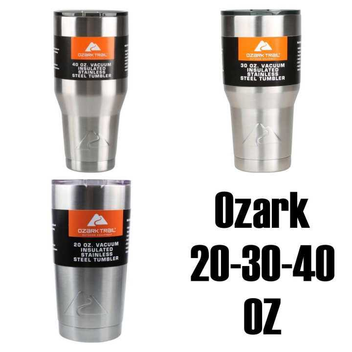 Ozark Trail 20,30,40 oz Vacuum Insulated Stainless Steel Tumbler