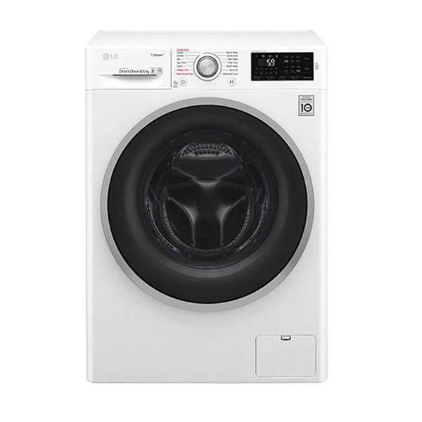 Sale เครื่องซักผ้า แอลจี ลด -21% LG เครื่องซักผ้าฝาหน้า ซัก 8กก./อบ 5กก. รุ่น FC1408D4W ลดราคาและมีของแถม