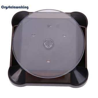 ตู้โชว์โซลาร์ 360 หมุน 038B นาฬิกาแท่นโชว์แหวน (สีดำ) - INTL-