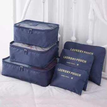 Fashion Girl กระเป๋า กระเป๋าจัดระเบียบเสื้อผ้าสำหรับการเดินทาง Set 6 ใบ-