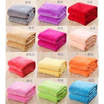 ผ้าห่มนาโนสีพื้นกว้าง 3 ฟุต ( 100*160 ซม.)-