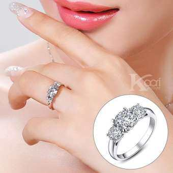 Kaari แหวนเงินแท้ ดีไซน์แหวนเพชรสวิส เครื่องประดับ แหวนผู้หญิง Sterling Silver 925 Fashion Jewelry Women Ring รุ่น R0022 เบอร์ 6-9
