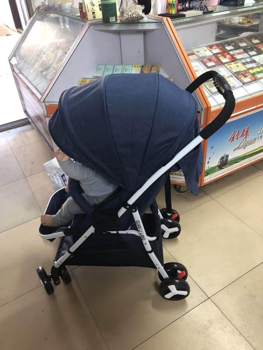 นี่คืออันดับ1 BEST รถเข็นเด็กแบบนอน High Quality Baby Stroller Prams รถเข็นเด็กพับได้ พกพาง่าย ถือขึ้นเครื่องเดินทางสะดวกสบาย ปรับได้ 3 ระดับ-BF6 เว็บเดียวที่ลดราคา