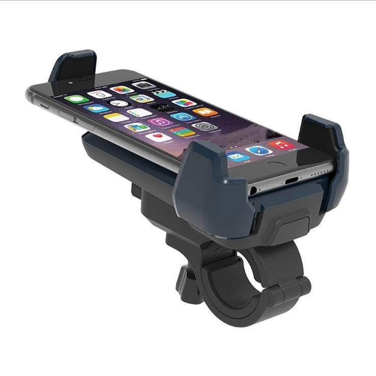 Adjustable Motorcycle Bicycle Handlebar Mount Holder Bracket for 4-6inch Mobile Phone Blac แท่นยึดโทรศัพท์กับจักรยาน