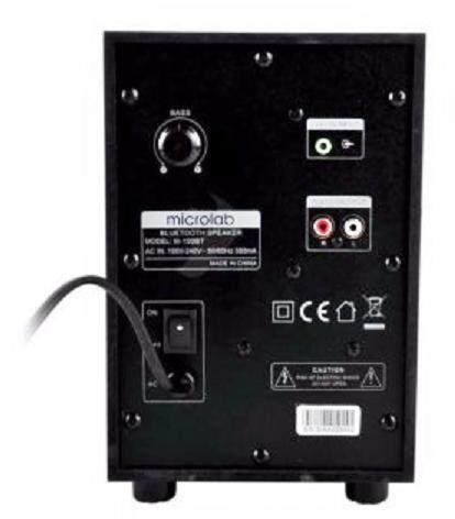 ลดล้างสต๊อกส่งท้ายปี เครื่องเสียงและโฮมเธียร์เตอร์ Microlab SPEAKER (ลำโพง) MICROLAB M100BT/2.1 (BLACK) มีรับประกัน