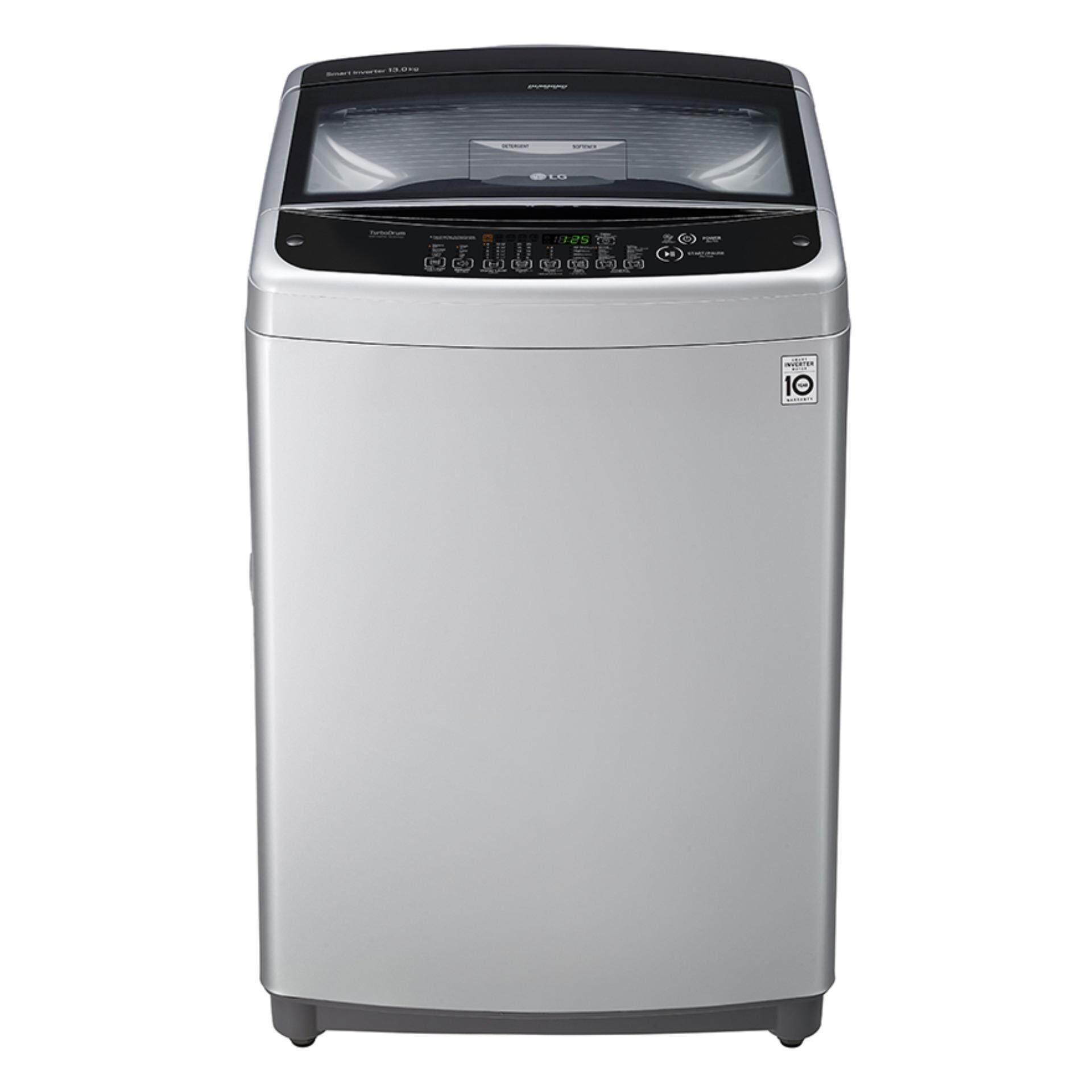 ถูกสุดๆ เครื่องซักผ้า แอลจี ลดโปรโมชั่น -60% เครื่องซักผ้าฝาบน LG Smart Inverter T2513VSAL ,13KG. (สี Gray) ขายถูกที่สุดแล้ว