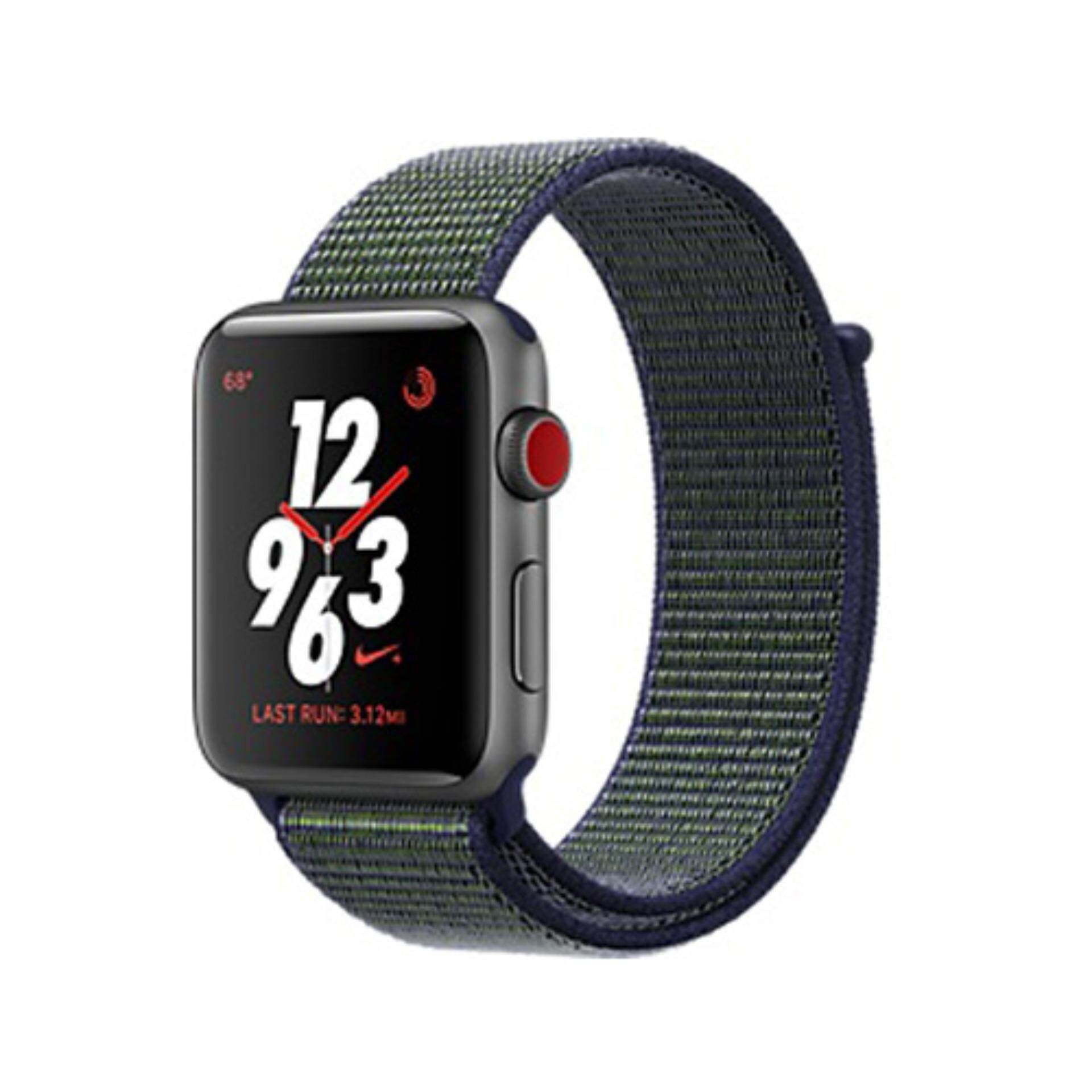 Apple Watch Nike+ GPS + Cellular, 38mm Space Grey Aluminium Case with Midnight Fog Nike Sport Loop