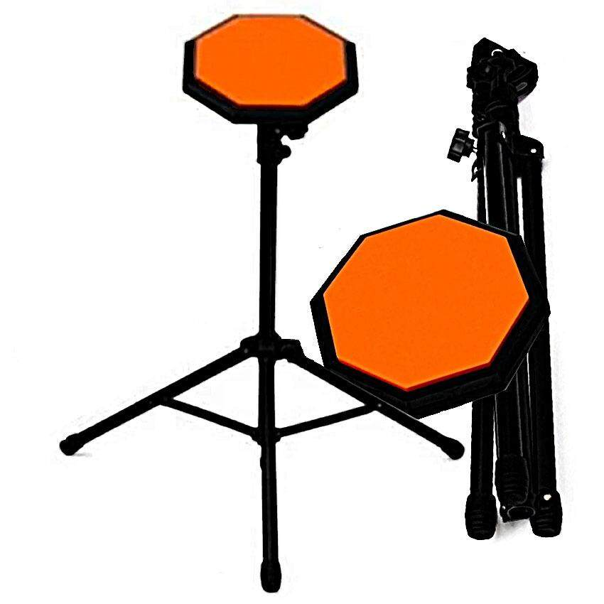 At First แป้นซ้อมกลอง พร้อมขาตั้ง และ กระเป๋า Drum Practice Pad + Stand + Bag