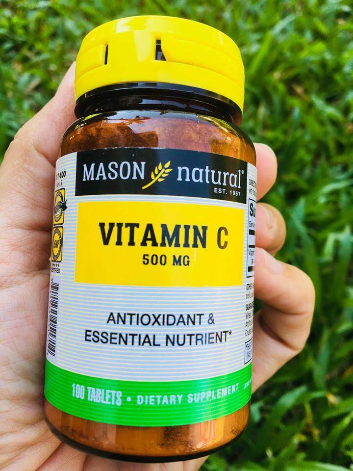 วิตามินซี Vitamin C 500 mg 100 เม็ด (Mason Natural®)